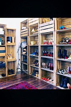 Zapatero cajas de madera