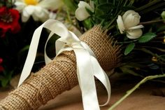 burlap and ribbon