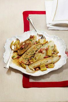 Belga stufata al marsala Un'idea originale per un antipasto o un contorno a base di insalata