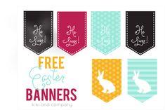 Free Easter Banner Printables - 'He Lives' and 'Bunny' | KristenDuke.com