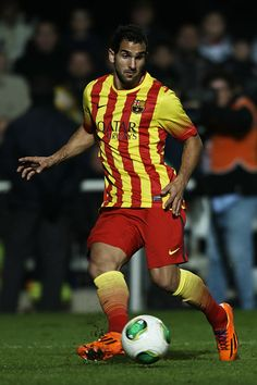 Montoya of Barcelona runs with the ball during the Copa del Rey, Round of 32 match between FC Cartagena and FC Barcelona at Estadio Cartagonova on December 06, 2013 in Cartagena, Spain.
