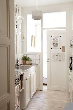 small space white kitchen