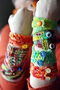 yard cuff, bracelets, craft idea, ten 10, knit, cuffs, 10 yard, print patterns, crochet bracelet