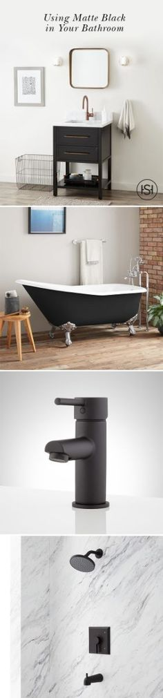 Matte Black Style: How To Use The Look In Your Bathroom Design