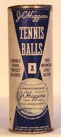 Vintage tennis balls packaging