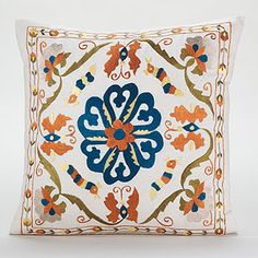 Calcutta Embroidered Toss Pillow at Cost Plus World Market