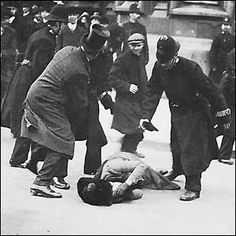 """""""TEACHING WOMEN A LESSON: Thus unfolded the 'Night of Terror' on Nov. 15, 1917, when the warden at the Occoquan Workhouse in Virginia ordered his guards to teach a lesson to the suffragists imprisoned there because they dared to picket Woodrow Wilson's White House for the right to vote. For weeks, the women's only water came from an open pail. Their food--all of it colorless slop--was infested with worms."""" This is what women had to fight for, so don't tell me feminism is 'irrelevant' to you."""