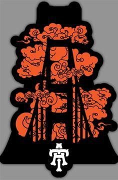 Teruo Artistry Golden Gate Fog Vinyl Sticker : Karmaloop.com - Global Concrete Culture