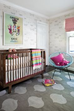 Color outside the lines with this bright and playful nursery.