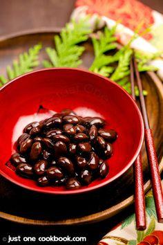 Kuromame (Sweet Black Soybeans, 黒豆) | JustOneCookbook.com