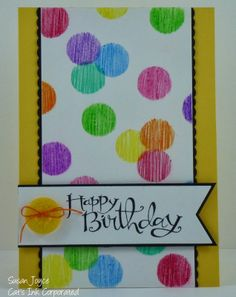 Cat's Ink.Corporated: Stenciled Day 2 - Happy Birthday