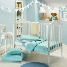 Turquoise Moroccan print for baby too...