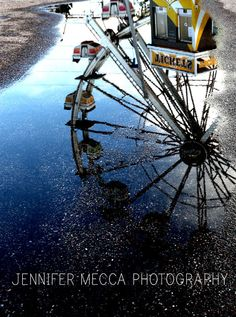 Ferris Wheel Reflection Cheyenne Wyoming by ATimeAndPlaceDesign