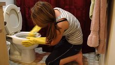 Make your own bathroom cleaners.