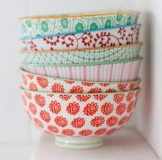 Anthropologie mismatching bowls