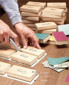 make your own sanding blocks