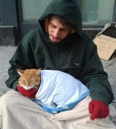 Touching Story Of The 'Subway Cat' And His Human