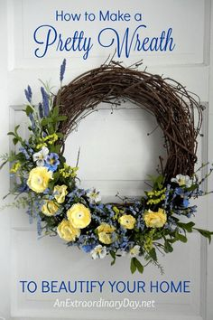 A pretty wreath is a