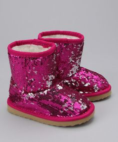Sparkly boots by Launch on #zulily