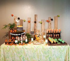 Garden themed dessert table. #birthday #party #dessert #table
