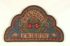 """""""Welcome Friends"""" Hooked Rug.."""