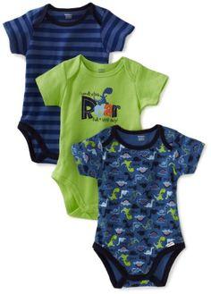 Gerber Baby-Boys Newborn 3 Pack Roar Bodysuit, « Clothing Impulse