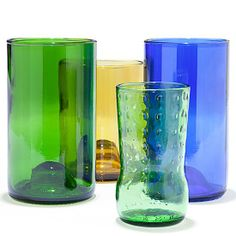 Wine lovers will raise a glass to these colorful tumbler sets made from recycled wine bottles. #RRGiftGuide