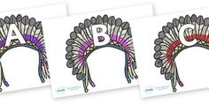 Preview: A-Z Alphabet on Headdresses
