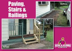 Our Hubbies really can do anything! Check out these awesome before and after pics :)