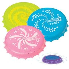 "Toysmith 8237 Water Frisbees 5"" (too small??) $4.99 + shipping"