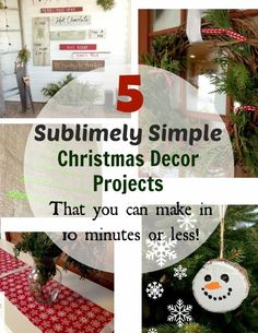A few quick and easy projects that will get you on the fast track to having a handmade Christmas!