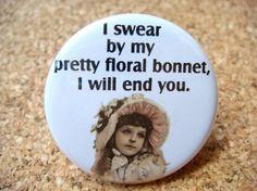 Malcolm's pretty floral bonnet