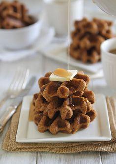 Pumpkin Ginger Waffle Bites