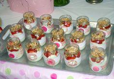 reusing baby food jars to serve food at shower