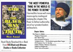 "God, The Black Man and Truth|Honorable Ben Ammi (""REAL Black Spirituality"") http://rbgstreetscholar.wordpress.com/2014/09/03/god-the-black-man-and-truthhonorable-ben-ammi/"