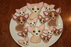 Chihuahua cookies????? Too cute!