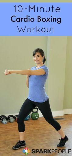 Get your heart pumping in just 10 minutes with these simple #workout you can do anytime and anywhere! | Via @SparkPeople #workout #fitness #exercise #kickboxing #noexcuses