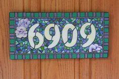 Stained Glass House Number Mosaic by JooolesDesign on Etsy, $120.00 hous number, mosaic idea, stain glass, house numbers, glass houses, stained glass