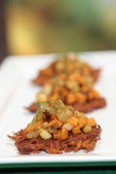 Mario Batali's Vegetable Caponata On Sweet Potato Crisps