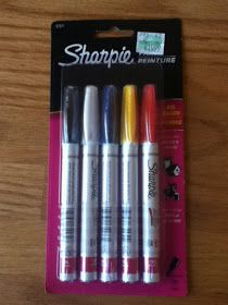 DIY: Tutorial: Dishwasher-Safe Sharpie Mugs.  You must use oil based Sharpies or porcelaine paint.  Regular Sharpies WILL NOT WORK!