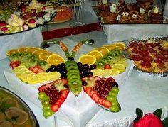 fruit tray butterfly appetizer art