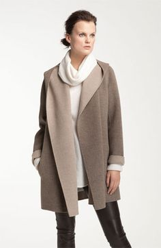 Vince Two Tone Draped Coat at #Nordstrom