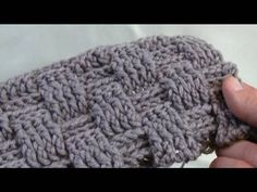 How to crochet a basket weave stitch.