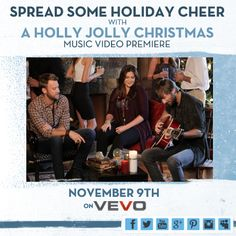 A Holly Jolly Christmas Music Video Premieres November 9th on VEVO!