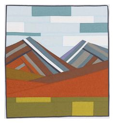 4 free modern quilting patterns modern mountain quilt by kristen fleckenstein