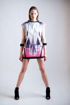 PURPLE CRYSTAL DRESS. Via Etsy.