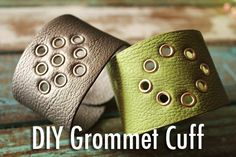 DIY grommet cuff