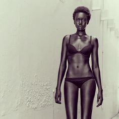 black girl, black bikini. all natural. stunning.