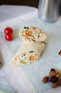 thai-style chick salad wraps -- great use of leftover rotisserie chicken!
