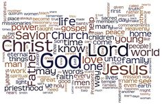 Most-used words in the LDS April 2013 General Conference